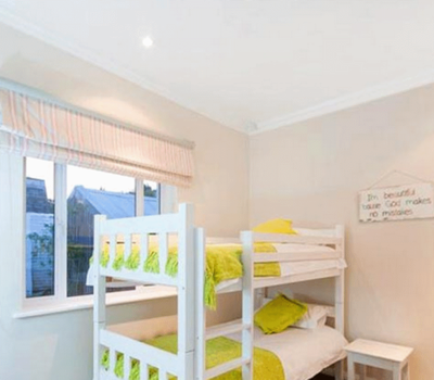 Bedroom 3 kids bedroom. Cape Town accommomdation for self catering purpose